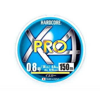 デュエル(DUEL)HARDCOREX4PRO(ハードコアX4プロ)200m0.8号イエローH3866-Y