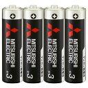 ナチュラム 楽天市場支店で買える「MITSUBISHI(三菱電機 マンガン乾電池 単3形 4本入 R6PUD/4S」の画像です。価格は163円になります。