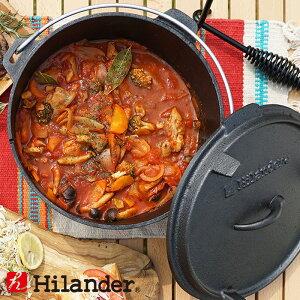 Hilander(ハイランダー) ダッチオーブン 10インチ スターターセット(本体+リフター+収納袋+グローブ) 4点セット HCA0320UM-1918