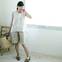 ガウチョパンツ綿100%綿100%ガウチョきれいめ大きいサイズナチュラル服テイストシンプルPNT134