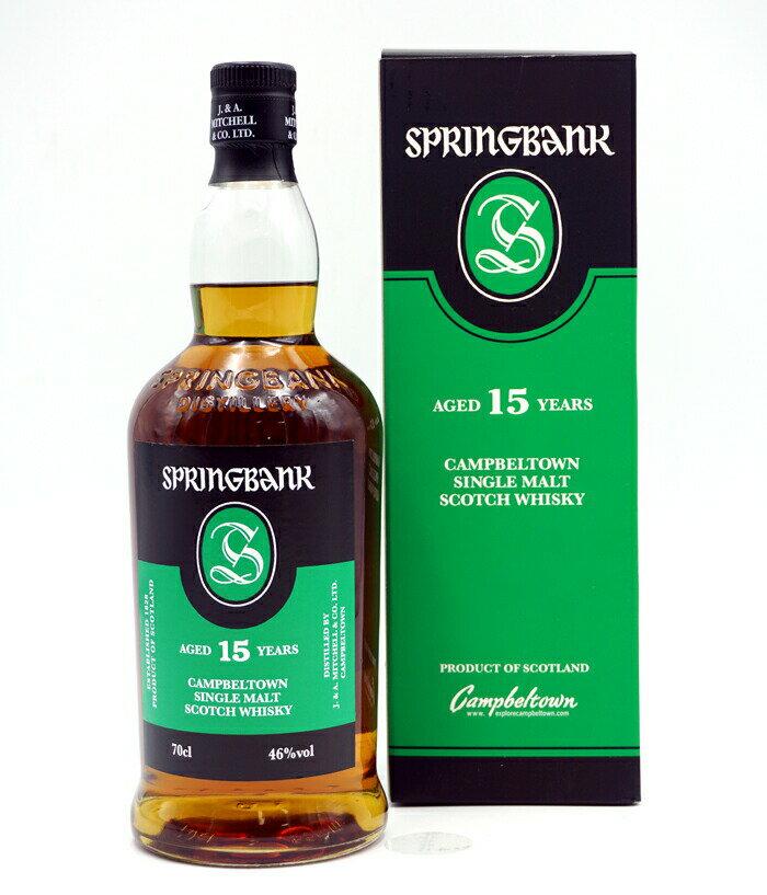 スコッチ・ウイスキー, モルト・ウイスキー  15 46 SPRINGBANK 15Y 46 CAMPBELTOWN SINGLE MALT SCOTCH WHISKY