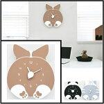 ハンドメイドmo:ro壁掛け時計動物のヒップが時計になった!デザイン壁掛け時計CHUBBYHIPウェルシュ・コーギー