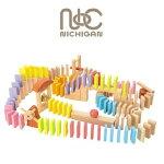 ニチガンDomino100ドミノ倒し木製カラーブロックBB42