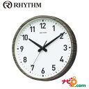 RoomClip商品情報 - リズム時計 電波時計 スタンダードスタイル144 ダークグレー(ホワイト) 8MY536NC08 RHYTHM