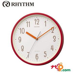 リズム時計 電波時計 掛置兼用 スタンダードスタイル143 レッド 8MYA40NC01 RHYTHM