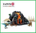 Schleichシュライヒ恐竜大火山とティラノサウルス恐竜ビッグセット42305