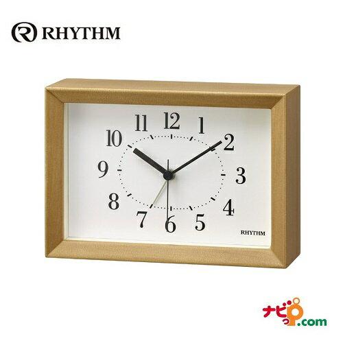 リズム時計 A Series A6サイズ 掛置兼用 8RE676SR06 アラーム機能付 木枠 時計 RHYTHM