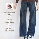 【SALE】【RRL by Ralph Lauren】ラルフローレン ダブルアールエル BOY FIT WOMENS ヴィンテージウォッシュストレートジーンズ