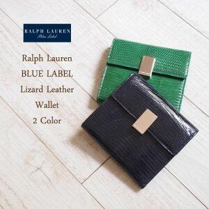 【Bule Label by RalphLauren】ラルフローレン ブルーレーベル  リザード レザー ウォレット...