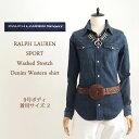 【SALE】【Ralph Lauren SPORTS】ラルフローレンスポーツ ストレッチ デニム ウエスタンシャツ/INDIGO