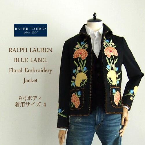 【SALE】【BLUE LABEL by Ralph Lauren】 ラルフローレン ブルーレーベル 花柄 刺繍 ジャケット/BLACK【あす楽対応】:NAVIE
