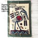 【ISSAC VASQUEZ GARCIA】Zapotec Weaving メキシコ サポテック ラグ /BIG BIRD/NAT/81×120【あす楽対応】