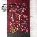 【ISSAC VASQUEZ GARCIA】Zapotec Weaving メキシコ サポテック ラグ /DANCING TRIBE/RED/82×130【あす楽対応】