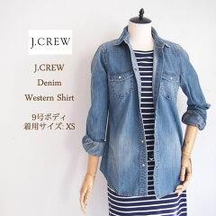 【J.CREW】 ジェイクルー デニム ウエスタン デニムシャツ/WASH INDIGO【あす楽対応】