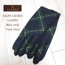 【SALE】【LAUREN by Ralph Lauren】ローレン ラルフローレン ブラックウォッチ グローブ【あす楽対応】メール便可