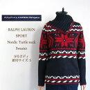 【SALE】【RalphLaurenSport】ラルフローレンスポーツ雪柄タートルネックニットセーター/DARKNAVY【あす楽対応】
