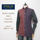 ラルフローレンポロレディースカスタムフィットタータンチェックシャツ/レッド/グリーンPOLObyRalphLaurenCustomFitShirtゆうパケット可
