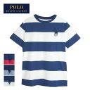 【メール便送料無料】ラルフローレン ポロ ボーイズ ビッグポニー ボーダー クルーネック TシャツPOLO Ralph Lauren Boy's T-Shirtsメール便可