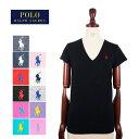 メール便送料無料 ポロ ラルフローレン レディース コットン ソリッド Vネック Tシャツ 半袖 女性 POLO Ralph Lauren T-Shirt