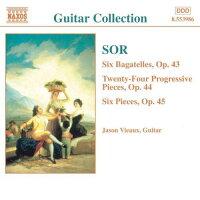 ソル:6つのバガテル「わが倦怠」Op.43/24の斬新的な小品Op.44/6つの小品「やってみましょう」Op.45