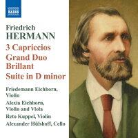 ヘルマン:「3つの狂詩曲」「組曲ニ短調」他/アイヒホルン(1787-1861):パガニーニの「ヴェニスの謝肉祭」の主題による変奏曲