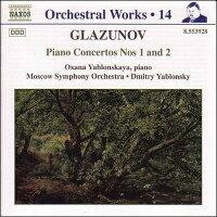 グラズノフ:ピアノ協奏曲第1番,第2番