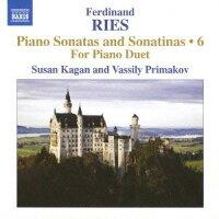 リース:ピアノ・ソナタとソナチネ全集第6集4手のための作品集
