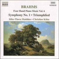 ブラームス:4手のためのピアノ作品集6(交響曲第1番/他)