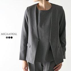 MICA&DEAL〔マイカアンドディール〕,D14A0017,ノーカラーボックスジャケット