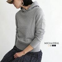 【18SSコレクション】MICA & DEAL〔マイカアンドディール〕D14A0002度詰裏毛パーカー(プルオーバー)