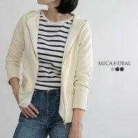 【17AWコレクション】MICA & DEAL〔マイカアンドディール〕D14A0009度詰裏毛パーカー(ジップアップ)