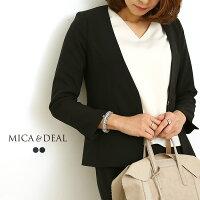 【18SSコレクション】MICA&DEAL〔マイカアンドディール〕M18A052ノーカラーボックスジャケット