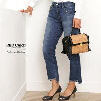 【17SS】RED CARD〔レッドカード〕13406-amuhAnniversary 25th Crop/ボーイフレンドアンバランスカットオフクロップドデニム(akira-Mid Unbalance Hem)【クーポン対象】