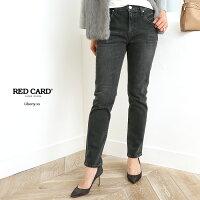 【18SSコレクション】RED CARD〔レッドカード〕44423-akbLiberty xx/ボーイフレンドストレートデニムパンツ(akira-Black Used)