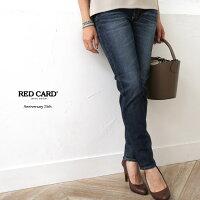【17AWコレクション】RED CARD〔レッドカード〕71506-kidAnniversary 25th/テーパードボーイフレンドデニムパンツ(kita-Dark Used)【クーポン対象商品】