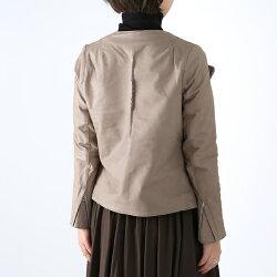 【20AWコレクション】,Sisii〔シシ〕,12002002,ノーカラーライダースウォッシャブルレザージャケット