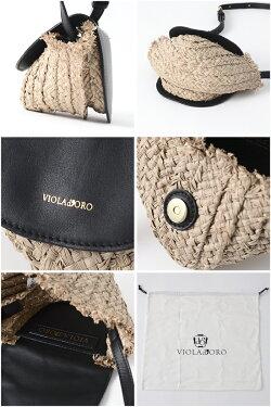 【21SSコレクション】,VIOLAd'ORO〔ヴィオラドーロ〕,V-8337,ラフィアレザーコンビミニショルダーバッグ