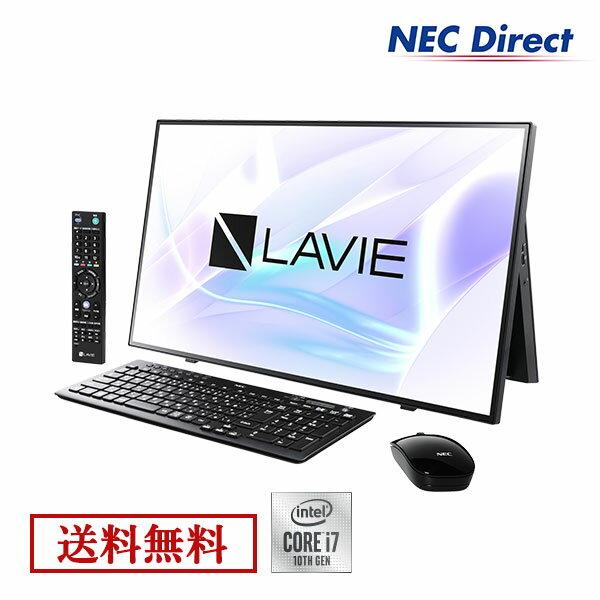 Web モデル NECデスクトップパソコンLAVIEDirectHA(Corei7搭載・ファインブラック)(ブルーレイ・地デ
