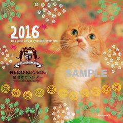 【メール便対応】新作!2016年猫助け卓上カレンダー ネコリパブリックオリジナル かわいい猫カ…