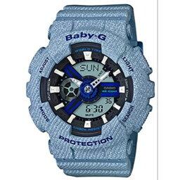 CASIO/BABY-G/カシオ ベビーG クオーツ 腕時計 レディース LADIE'S デニムドカラー ブルー BA-110DE-2A2