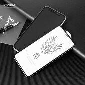【送料無料】iPhone用ガラスフィルム10D曲面9H高透過率超薄型耐衝撃自動吸着気泡ゼロ撥油性貼付け簡単全面保護フィルム