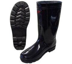 PVC 軽半長靴【農作業・ガーデニング・作業用】レインブーツ 黒【9661】長靴