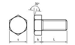 ステンレス/SSブラック六角ボルト(全ねじ)M5×25【バラ売り:7本入り】