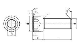 鉄(SCM435)/黒色クロメートキャップボルト(全ねじ)M8×100【小箱:1箱/60本入り】