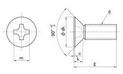 鉄/アロック(三価ホワイト)(+)サラ小ねじ[全ねじ]M2.5×4【小箱:1箱/6000本入り】