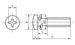 ステンレス/茶ブロンズ(GB3号)(+)ナベセムス[P=2]M3×8【小箱:1箱/2000本入り】