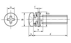 鉄/クローム(+)ナベセムス[P=4]M5×35【小箱:1箱/400本入り】