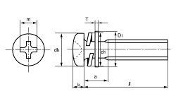 ステンレス/生地(+)ナベセムス[I=3]M2.5×10【小箱:1箱/1500本入り】