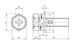 鉄/クローム(+)六角アプセットセムス[P=4]M5×30【小箱:1箱/400本入り】