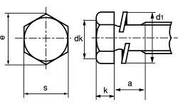 鉄/クロームトリーマセムス[P=2]M4×25【小箱:1箱/500本入り】